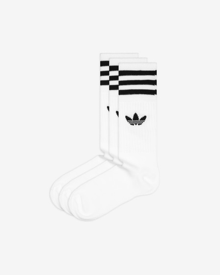 adidas Originals Solid Crew 3-pack Čarape