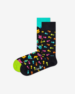 Happy Socks Cat Gift Box 2-pack Čarape